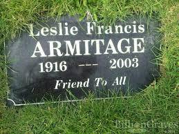 grave site of leslie francis armitage billiongraves headstone image of leslie francis armitage