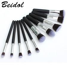 10pcs Eye Makeup Brush Kit <b>Black</b> Gold <b>Black Silver</b> Makeup Brush ...