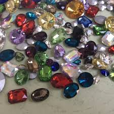 Mixed Shapes Sizes <b>Colors Rhinestones</b> Point back Crystal Glass ...