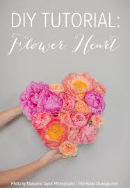 flowers wedding decor bridal musings blog: diy flower heart tutorial marianne taylor photography bridal musings wedding blog