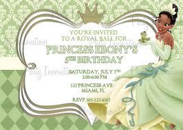 princess tiana invitations princess tiana party princess tiana invitations