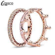 Online Shop <b>CUTEECO</b> Fashion <b>Rose</b> Gold Magic Love Crown ...