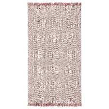 RÖRKÄR <b>Rug</b>, flatwoven, red/natural colour, <b>80x150 cm</b> - IKEA