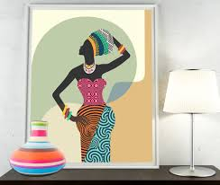 south african decor: african woman african wall art african wall decor black woman african print