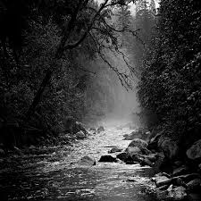 river awesome black white