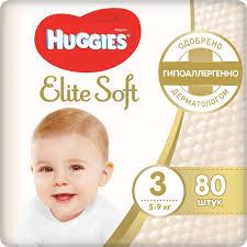 <b>Huggies Подгузники Elite</b> Soft 5-9 кг (размер 3) 80 шт — купить в ...