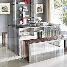 silver wood dining table