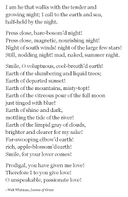 one of my favorite walt whitman poems poetry other such things the second days allie returns she remembers when under the big oak tree noah read