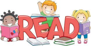 Image result for clip art kid reading book