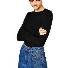 <b>Ribbed</b> Sweaters Women Spring Cute Stripe <b>White</b> Black Thin ...
