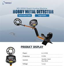 Deep <b>Underground Metal Detector MD3009II</b> Hunter Gold Digger ...