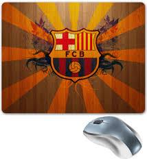 """Коврик для мышки """"<b>Barcelona</b>"""" #444302 от 100pari - <b>Printio</b>"""