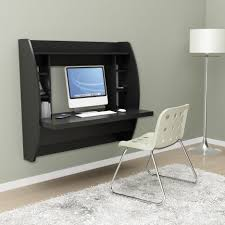 black solid wood wall mounted computer desk with 6 cube open racks in modern computer wall amazing computer desk small