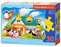 <b>Пазл</b> Castorland Fire Brigade in <b>Action</b> (B-03525), 30 дет. — купить ...