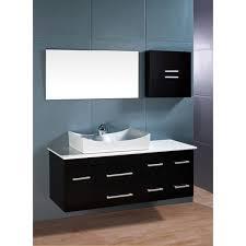 element contemporary bathroom vanity set: design element springfield contemporary wall mount bathroom vanity set