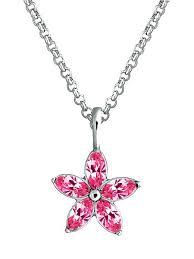 <b>Кулон</b> Essence с розовыми кристаллами <b>Swarovski</b> в родии ...