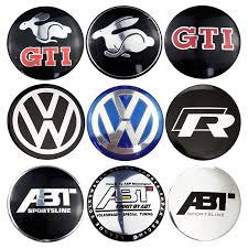 56mm <b>4PCS Volkswagen VW GTI</b> Rabbit ABT Rline Passat Tiguan ...