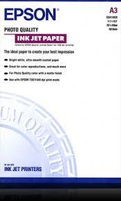 <b>Photo Quality Ink</b> Jet Paper, DIN A3, 102g/m², 100 Sheets - <b>Epson</b>