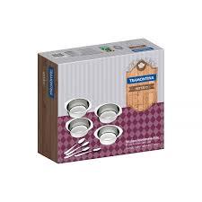 Tramontina Service <b>stainless steel dessert</b> set, 8 pc set | Tramontina