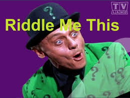 Image result for graphic of the riddler riddle me this
