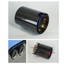 <b>63MM</b>-<b>92MM</b> Grilled Blue Car Exhaust End Tail Tips (Carbon Fiber+ ...