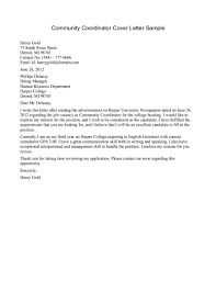 community service cover letter template community service cover letter