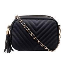 <b>2021</b> Women's <b>New PU Leather</b> Pure Color Fashion Casual Chain ...