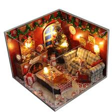 christmas gift diy wooden doll house with furniturelight dust cover miniature dolls for houe 3d puzzle dollhouse toy gifts aliexpresscom buy 112 diy miniature doll house
