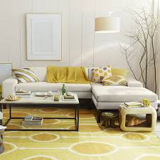cool living room decoration with yellow sectional sofa perfect living room decoration with l shaped chic yellow living room