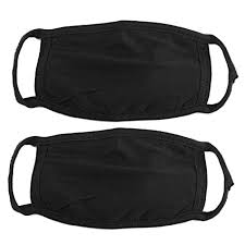 Rosallini 2 Pieces <b>Cotton</b> Blend Anti Dust Face <b>Mouth</b> Mask <b>Black</b> ...