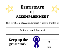 certificate of accomplishment printable everyone deserves certificate of accomplishment printable