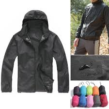 <b>Unisex Waterproof Windproof Nylon</b> Bike Jacket Bicycle Running ...