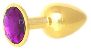 Купить Главсексмаг <b>Анальная пробка с кристаллом</b> 7 см ...