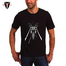<b>KODASKIN Men Cotton Round</b> Neck Casual Printing Short Sleeve T ...