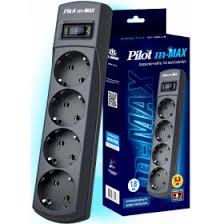 <b>Сетевой фильтр Pilot m-MAX</b> 3м Black в интернет-магазине ...