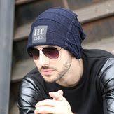 <b>Mens Plus Velvet Warm</b> Knitted Beanie Hat - Banggood Mobile ...