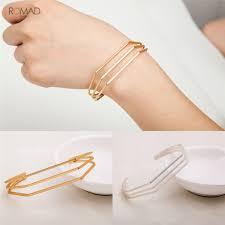<b>Romad 2019 Fashion</b> Adjustable Metal Opening Bracelet For ...