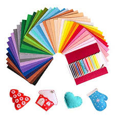 SOLEDI Felt Fabric Sheets Assorted <b>Colors DIY</b> Polyester 41 Pcs <b>6</b> x ...