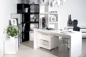 white beautiful modern storage office desk along with chair and bookcase beautiful office desks