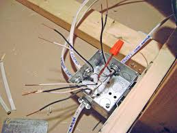 code bathroom wiring: basement bathroom junction box wiring ground wires nutted together