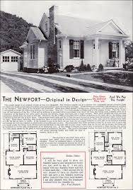Late Bungalow Style   Aladdin Newport   Mid century     Aladdin Kit Homes   The Newport