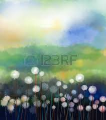 acrylic painting abstract oil painting white flowers field in soft color oil paintings white acryclic painting soft