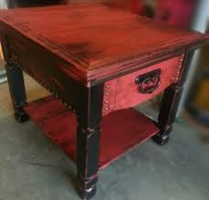 black and red distressed furniture black red distressed end table black and red furniture