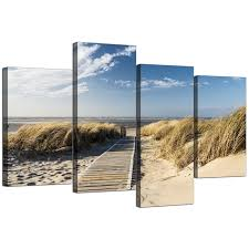 Wall Art Sets For Living Room Canvas Wall Art Of A Beach For Your Living Room Set Of Four