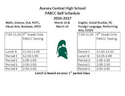 parcc testing information aurora central high school parcc testing schedule page 1