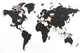 <b>Деревянная карта мира World</b> Map True Puzzle Large, черная