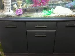 4 ft fishtank with grey cabinet and lighting unit 180 litres miscellaneous goods cabinet and lighting
