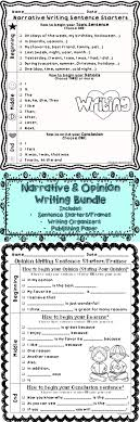 best ideas about teaching narrative writing opinion narrative writing sentence starters stems bundle any topic