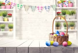 <b>Laeacco Happy Easter Day</b> Basket Egg Wooden Board Flag Party ...