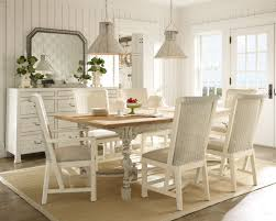 dining roominspiring dining room in french with white vintage long dinning table plus rattan chairs combined beautiful combination wood metal furniture